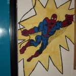 mural of spiderman school murals, statues and murals, dublin Ireland, denver, bedrooms, creches, classrooms, schools, kids help out , lots of fun, Mural Artist experts, window murals, all wall murals, mural artist frances blake