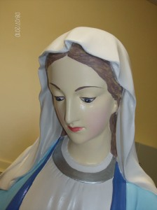 THE BLESSED VIRGIN (after restoration), from frances blake of murals and statues dublin