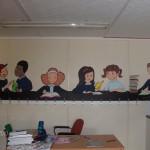 The Library Kids, Mural Artist Frances Blake, Dublin, Denver, wall art, class rooms, schools, creches, bedrooms, playrooms, kids painting murals