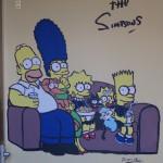 The Simpsons Mural Artist Frances Blake, Dublin, Denver, wall art, class rooms, schools, creches, bedrooms, playrooms, kids painting murals